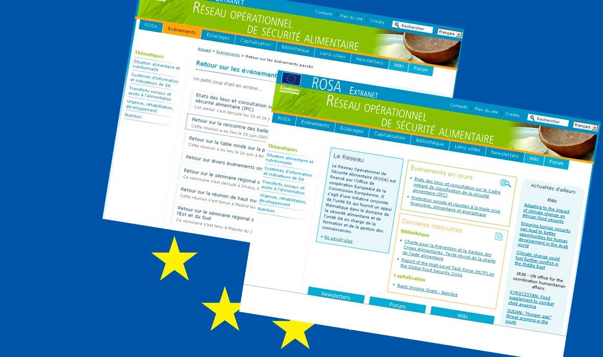 Extranet du réseau ROSA - UE