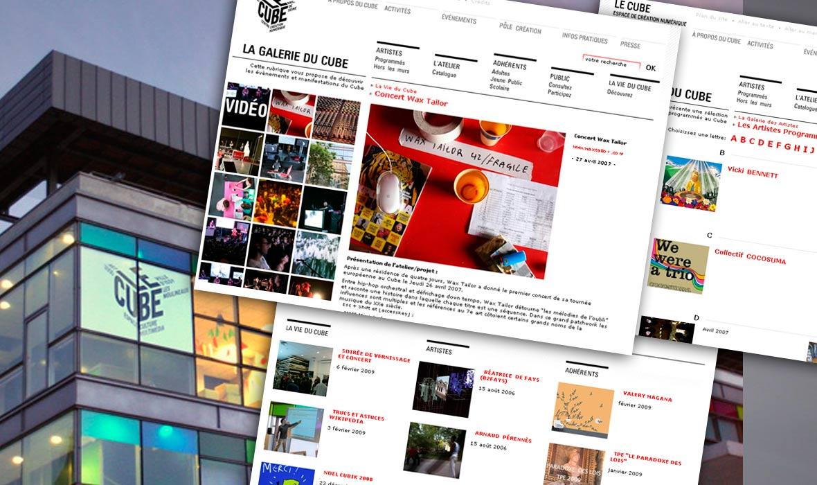 La Galerie du Cube : toutes les oeuvres (co)produites depuis la création